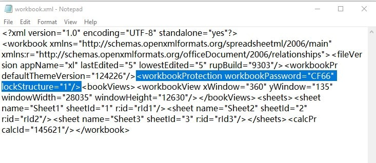 delete workbook protection tag