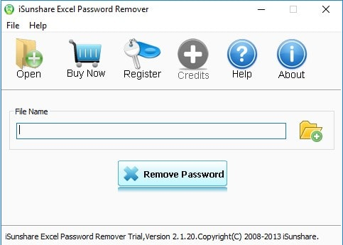 isunshare excel password remover