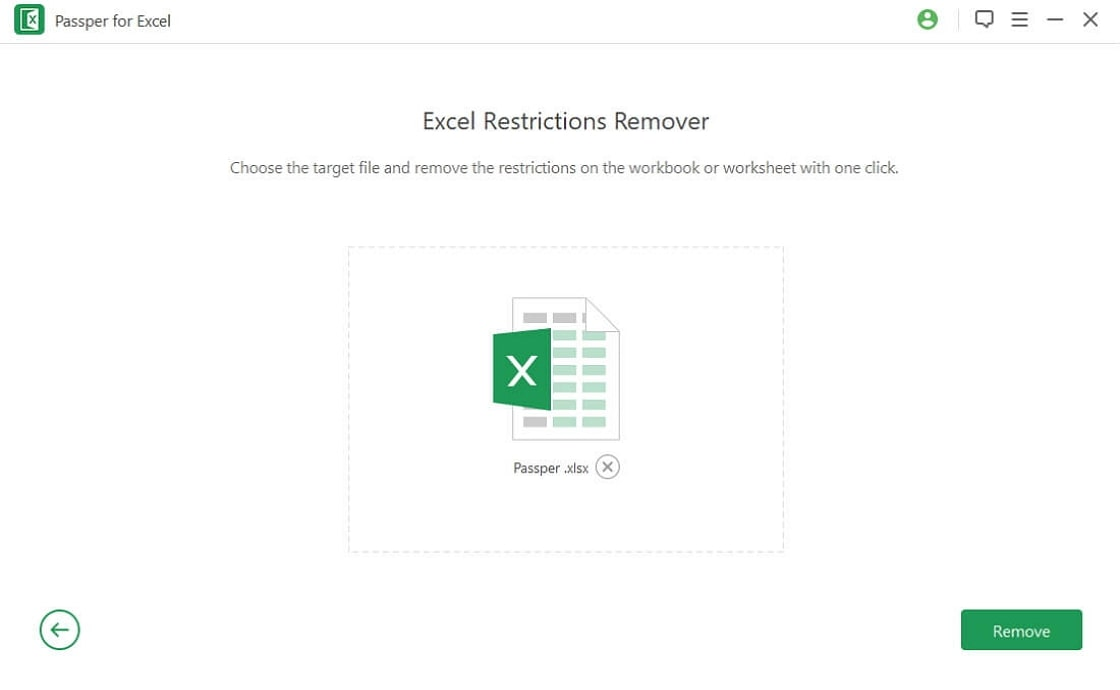 upload protected excel file