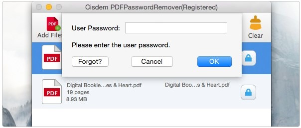 cisdem enter password