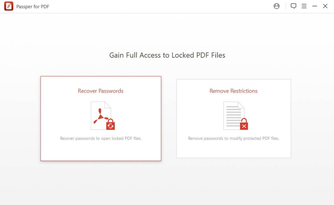 recover passwords pdf step1