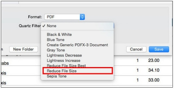 reduce file size mac
