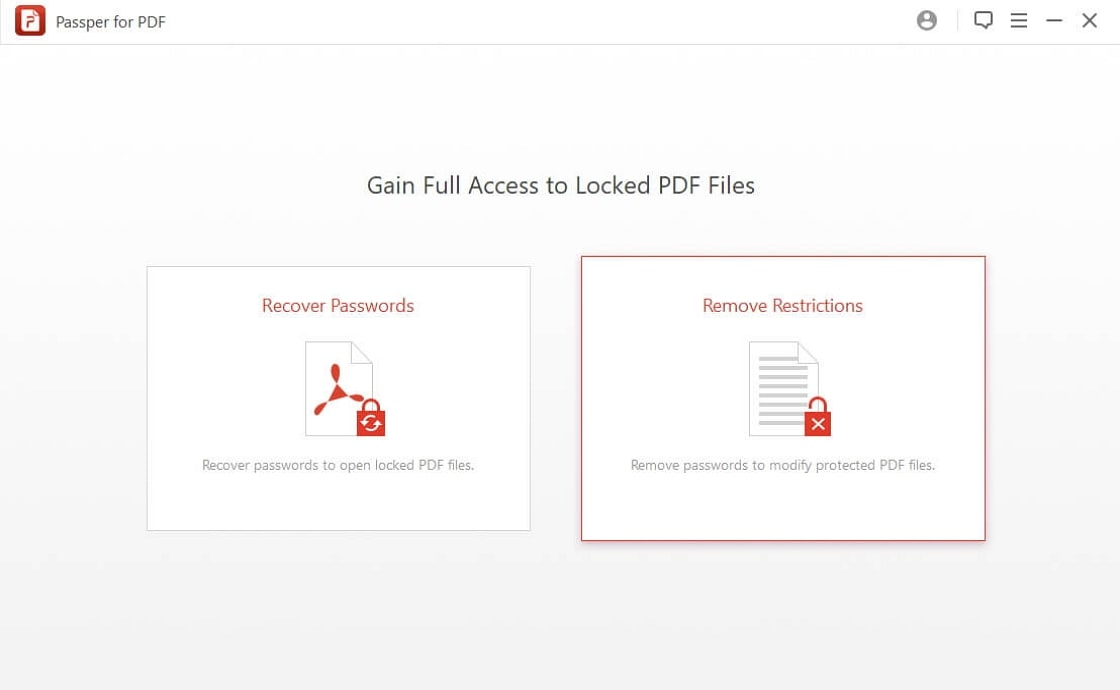 homepage of Passper for PDF