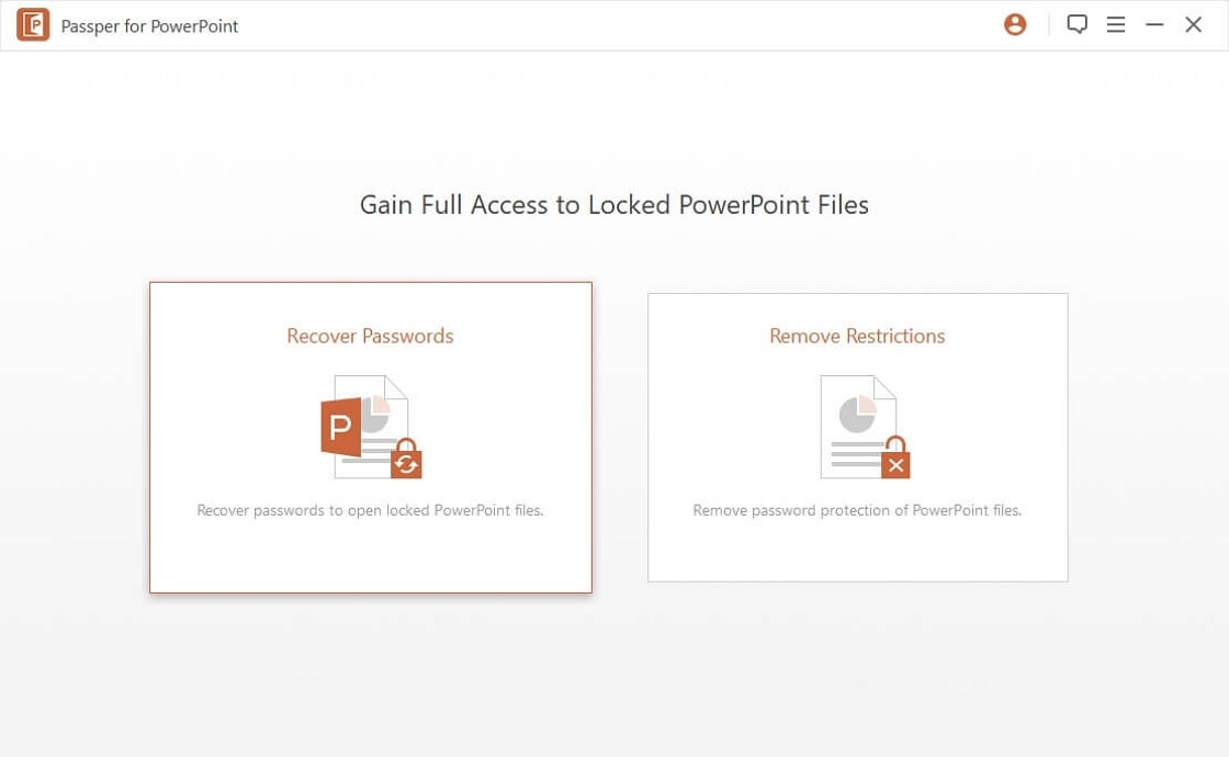 passper powerpoint password recovery