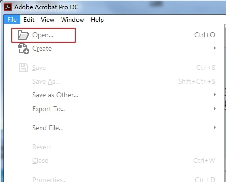 adobe open pdf file