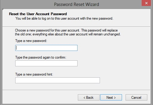confirm windows password