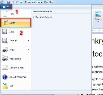 open word with notepad