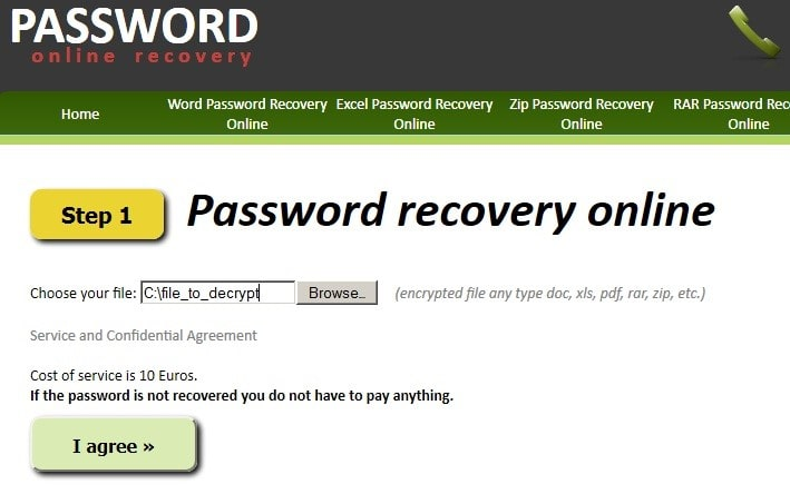 password online recovery