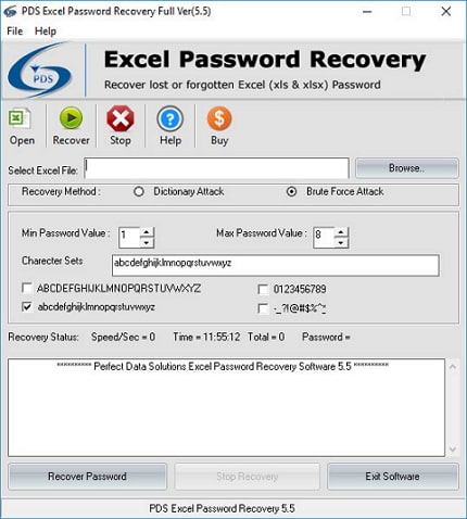 pds 2010 excel password recovery