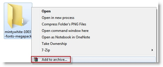 add archive rar