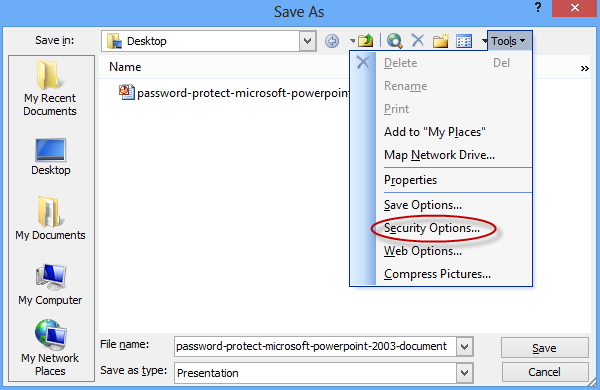 remove password from powerpoint 2003
