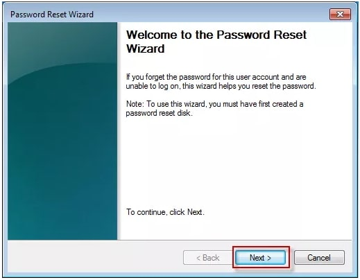 reset windows password wizard