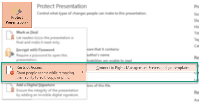 restrict access powerpoint