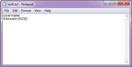 save passwords in text file