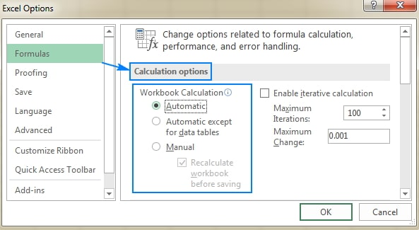 switch workbook to automatic calculation
