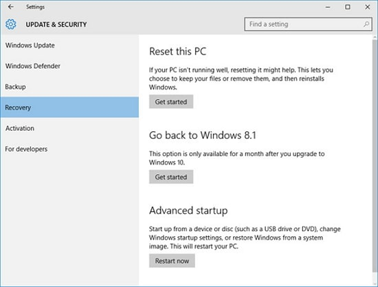 3 Ways to Factory Reset Windows 10 Without Password 2019