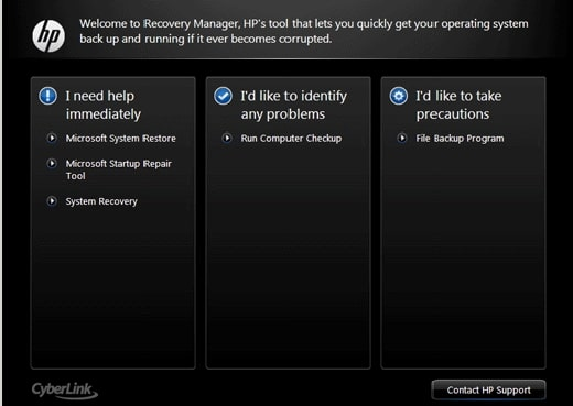 use recovery partition