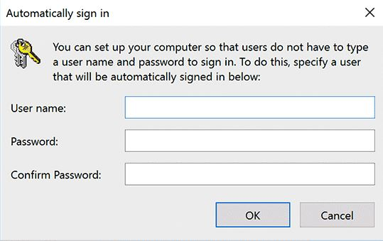 automatically sign in