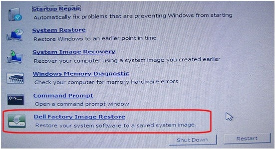 dell factory image restore