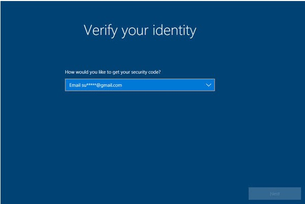 verify identity win10