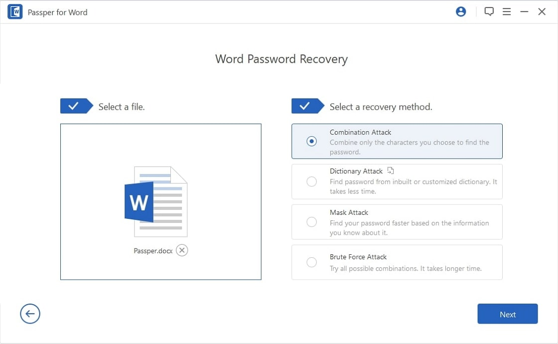 recover word password protected document