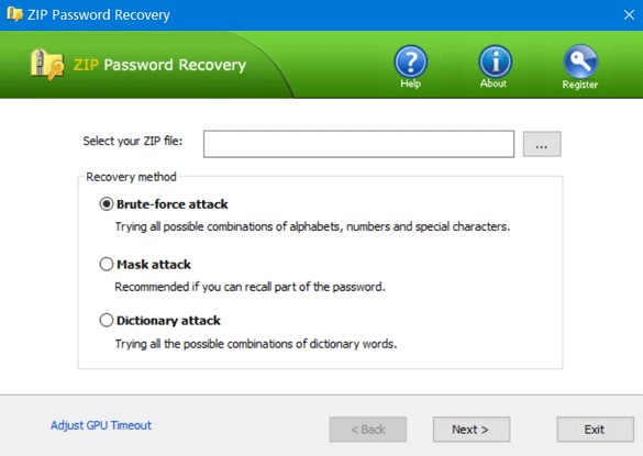 top password zip password recovery