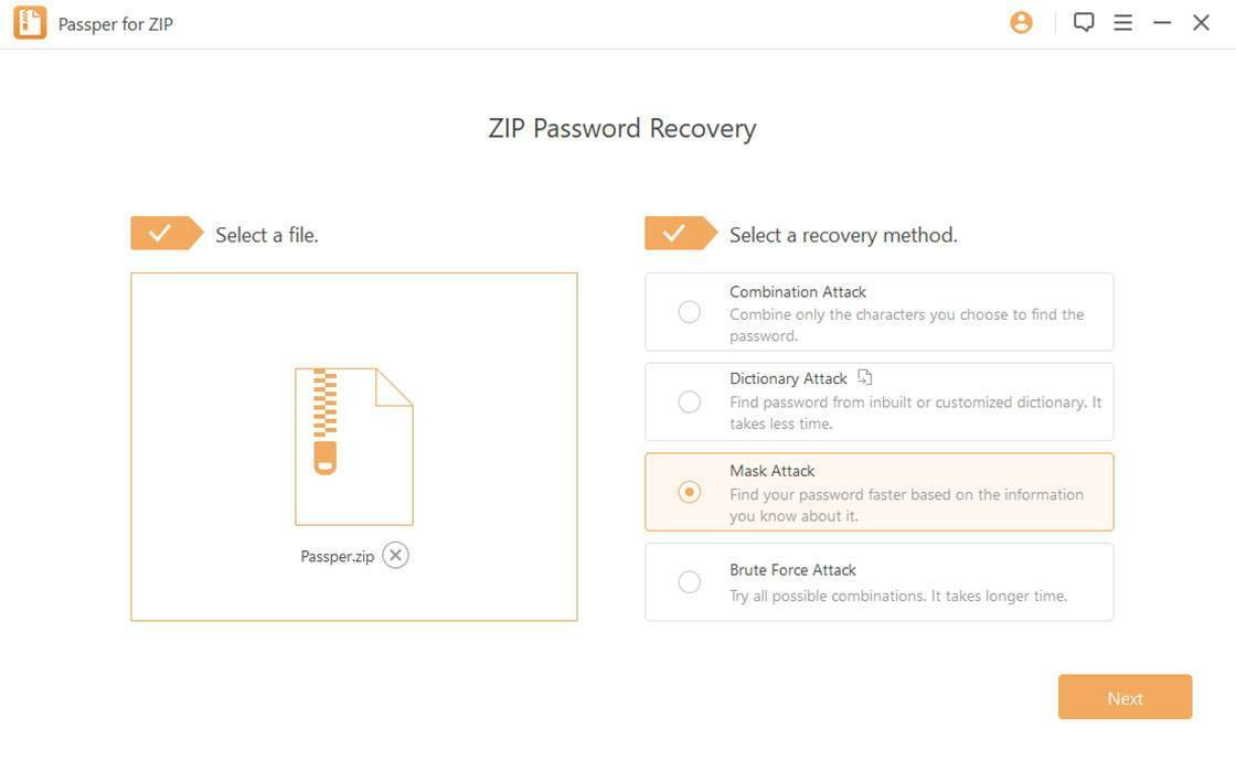 Passper for ZIP - Recover Lost or Forgotten Zip password